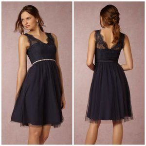 BHLDN Anthropologie Hitherto Lina Navy Blue Dress